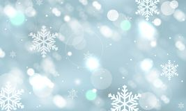 Abstract winter  wallpaper with snowflakes, snowfall and glowing elements. Abstract winter wallpaper with snowflakes, snowfall and glowing elements. Vector Stock Images