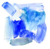 Abstract winter watercolor painting background stock image