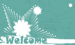 Abstract winter welcome banner Stock Photo