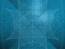 Abstract Wire Net Structure Vector Royalty Free Stock Photo