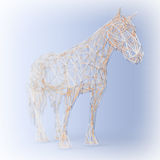 Abstract Wired Low Poly Horse. 3d Rendering Stock Image