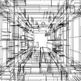Abstract wireframe Royalty Free Stock Photography