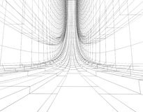 Abstract wireframe construction Royalty Free Stock Images