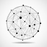 Abstract wireframe globe sphere, network connect. Ions. Vector Stock Photos