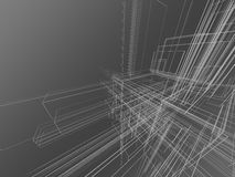 Abstract wireframe in gray Stock Photography