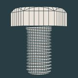 Abstract wireframe style bolt Royalty Free Stock Image