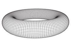 Abstract wireframe torus vector illustration