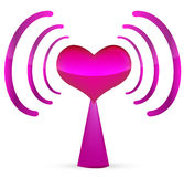 Abstract wireless heart. On white Stock Photography