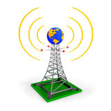 Abstract wireless tower Royalty Free Stock Images