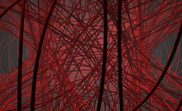 Abstract Wires. Complicated abstract structure of arteries in the human body Stock Photography