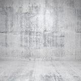 Abstract wit binnenland met concrete muren Royalty-vrije Stock Afbeeldingen
