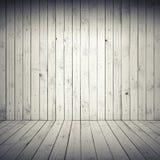 Abstract wit binnenland met houten vloer en muur Royalty-vrije Stock Afbeelding