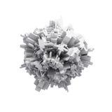 Abstract wit digitaal 3d sphericcal voorwerp Stock Afbeelding