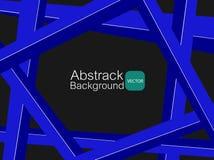 Abstract wit dwars blauw materiaal als achtergrond Stock Fotografie