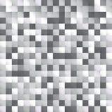 Abstract wit en grijs het pixel van het vierkantenpatroon ontwerp als achtergrond stock illustratie