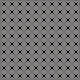 Abstract Wit Geometrisch Bloemen Naadloos Patroon op Zwarte Achtergrond stock illustratie