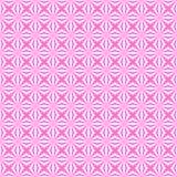 Abstract Wit Geometrisch Naadloos Bloemenpatroon op Roze Achtergrond stock illustratie