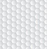 Abstract wit hexagon patroonbehang Stock Foto