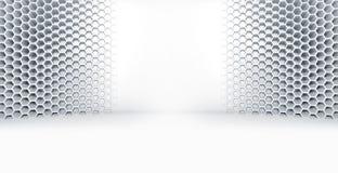 Abstract wit leeg ruimtebinnenland met vleklicht Stock Fotografie