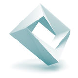Abstract Wit Logo Square Shape Oblect Stock Foto's