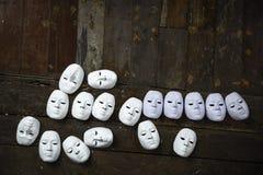 Abstract wit masker Royalty-vrije Stock Afbeeldingen
