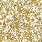 Abstract wit modern naadloos patroon met 3d gouden sterren Vecto Stock Afbeeldingen