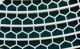 Abstract wit netpatroon op sponsachtergronden Stock Fotografie