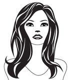 Abstract woman black and white portrait Royalty Free Stock Photos