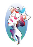 Abstract woman. Abstract, colour full woman with background Royalty Free Stock Photos