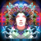 Abstract Woman decor Stock Image