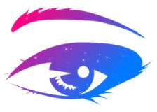 Abstract woman eye. Abstract cartoon woman's eye on white background Stock Images