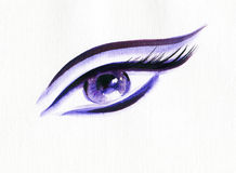 Abstract woman eye .fashion background Royalty Free Stock Image