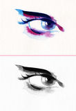 Abstract woman eye .fashion background Stock Image