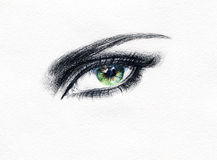 Abstract woman eye .fashion background Royalty Free Stock Photos