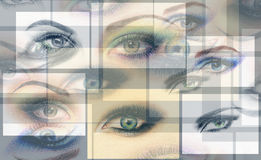 Abstract woman eye .fashion background Stock Images