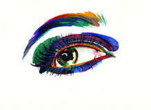 Abstract woman eye .fashion background Stock Photography