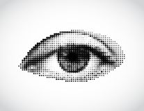 Abstract woman  eye made from dots. Vector Stock Photography