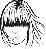 Abstract woman face. Abstract  woman face. Art work illustration Stock Image