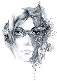 Abstract woman face Stock Photography