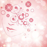 Abstract Woman Face Stock Image
