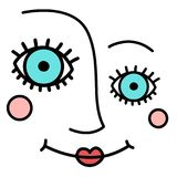 Abstract woman face. Vector illustration Stock Photo