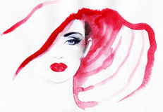 Abstract woman face  .fashion background Royalty Free Stock Photos