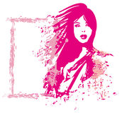 Abstract woman. fashion illustration Royalty Free Stock Image