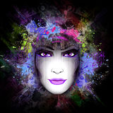 Abstract woman illustration Stock Images