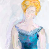 Abstract woman painting Stock Photography