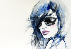 Abstract Woman Portrait .fashion Background Stock Image