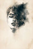Abstract Woman Portrait  .fashion Background