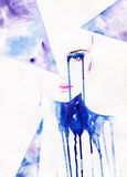 Abstract Woman Portrait .fashion Background Royalty Free Stock Images