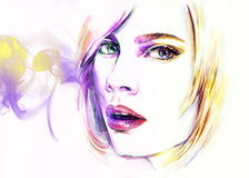 Abstract woman portrait .fashion background Royalty Free Stock Photography