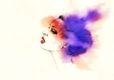 Abstract woman portrait .fashion background Stock Photography